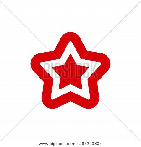 Star Color Vector Logo, Abstract Star Color Icon, Star Rating, Rank. Star Astrology Symbol. Star Ico