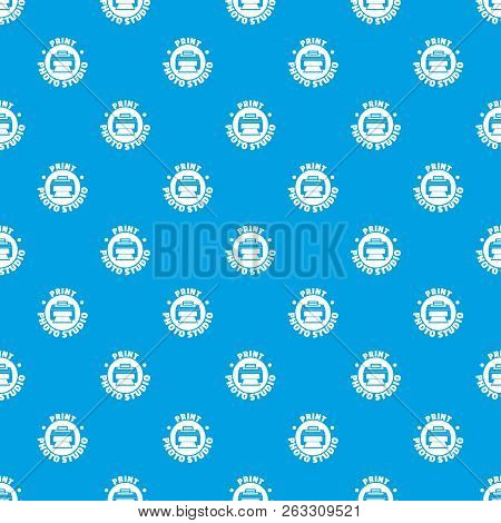 Print Photo Studio Pattern Vector Seamless Blue Repeat For Any Use