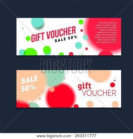 Certificate Coupon For Shop With Offer Vector Template Confetti Background