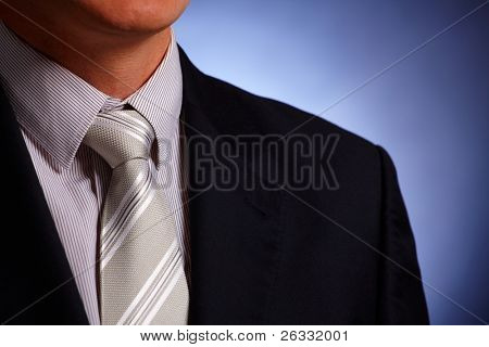 Businessman or politician tie and suit close-up