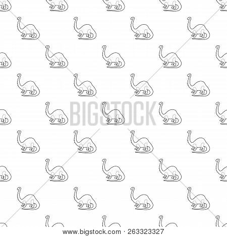 Apatosaurus Dinosaur Pattern Vector Seamless Repeating For Any Web Design