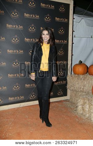 LOS ANGELES - OCT 10:  Ashley Iaconetti at the Nights Of The Jack Halloween Activation Launch Party at the King Gillette Ranch on October 10, 2018 in Calabasas, CA