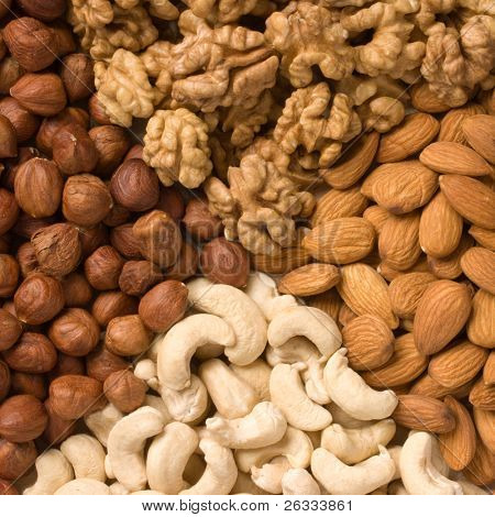 Nuts (almons, cashews, walnuts and filbers)