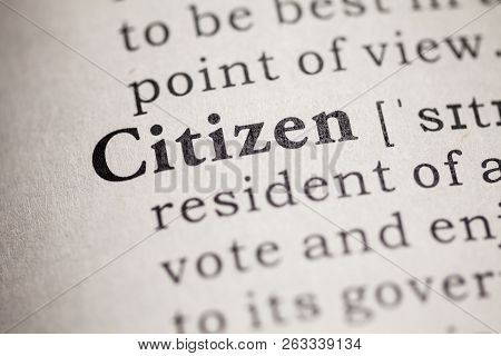 Fake Dictionary, definition of the word citizen. poster