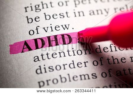 Fake Dictionary, Definition Of The Word Adhd.