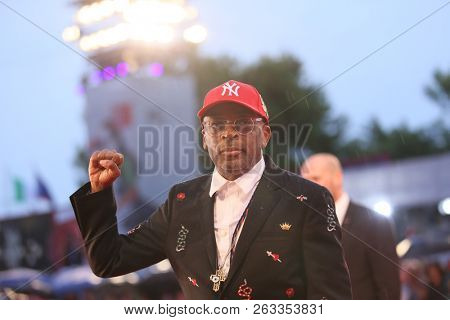 Spike Lee attends the 'A Star Is Born' premiere during the 75th Venice Film Festival at the Palazzo del Cinema on August 31, 2018 in Venice, Italy.