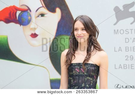 Stacy Martin attends the 'Amanda' red carpet during the 75th Venice Film Festival at Sala Casino on August 31, 2018 in Venice, Italy.