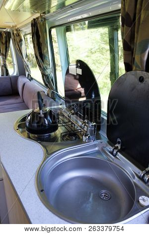 Making Tea And Coffee In A Campervan
