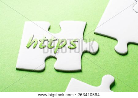 The Word Https In Missing Piece Jigsaw Puzzle