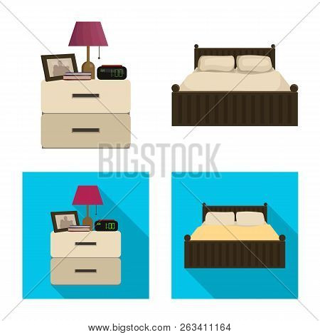 Vector Design Of Dreams And Night Sign. Set Of Dreams And Bedroom Stock Vector Illustration.