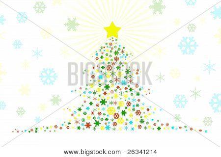 Stylized Christmas Tree Design Illustration