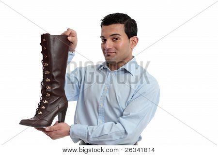 Smiling Retail Salesman