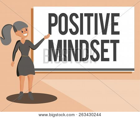 Conceptual Hand Writing Showing Positive Mindset. Business Photo Showcasing Mental And Emotional Att