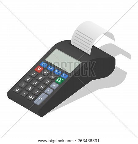 Payment Terminal Icon Set. Isometric Set Of Payment Terminal Vector Icons For Web Design Isolated On