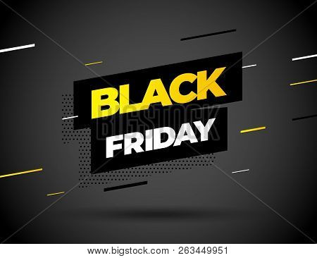Black Friday Sale Inscription Design Template. Black Friday Banner. Vector Illustration.