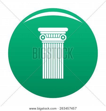 Architectural Column Icon. Simple Illustration Of Architectural Columnvector Icon For Any Design Gre