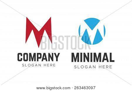 Letter Logos. M Letter Logos. Minimalism M Logotype