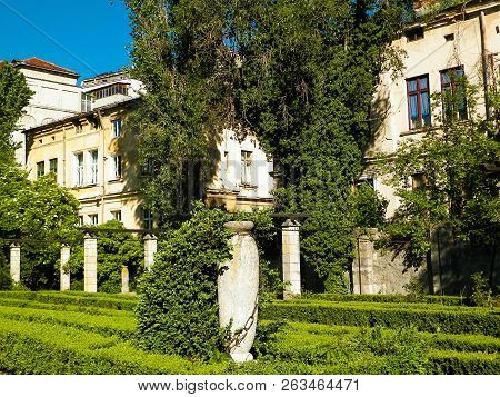 Landscape Of King Mihai I Park, Bucharest, Romania. Nature In City And Tourism Concept.