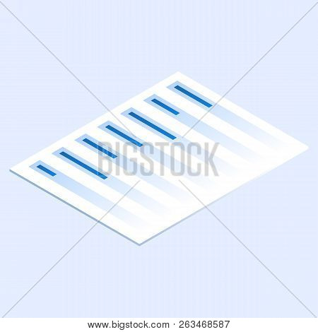 Finance Paper Icon. Isometric Of Finance Paper Vector Icon For Web Design Isolated