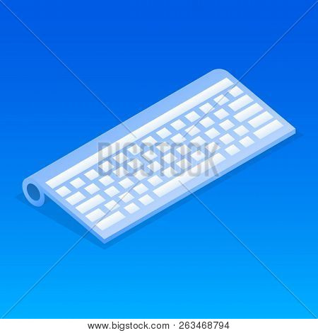 Wireless Keyboard Icon. Isometric Of Wireless Keyboard Vector Icon For Web Design Isolated