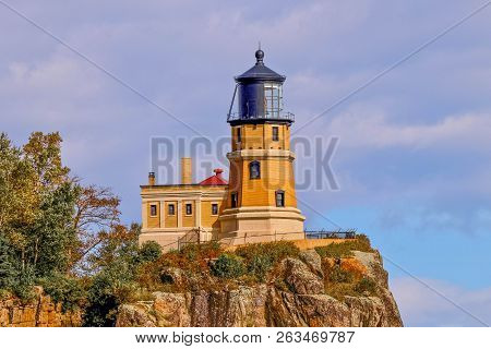 Split Rock Lighthouse In Northern Minnesota, Landmark, Travel, Architecture, Destination