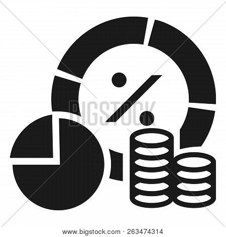 Finance Money Graph Icon. Simple Illustration Of Finance Money Graph Vector Icon For Web Design Isol