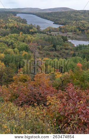 Panoramic View Of Copper Harbor In Upper Peninsula Of Michigan In Autumn
