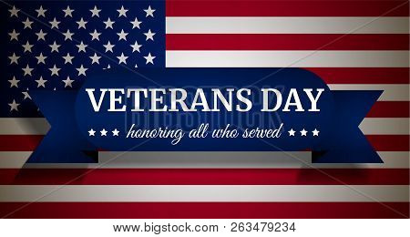 Usa Veterans Day Concept Background. Realistic Illustration Of Usa Veterans Day Vector Concept Backg