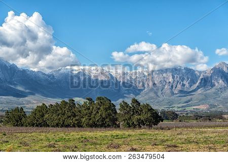 View From The Start Of The Historic Bains Kloof Pass Towards The Hex River Mountains In The Western