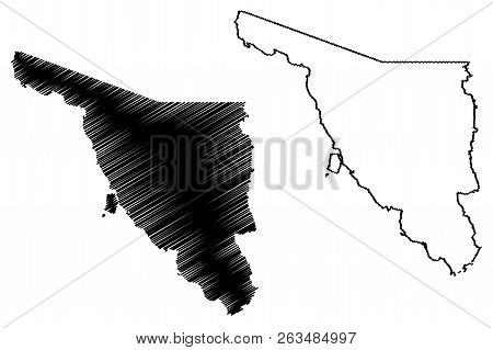 Sonora (united Mexican States, Mexico, Federal Republic) Map Vector Illustration, Scribble Sketch Es