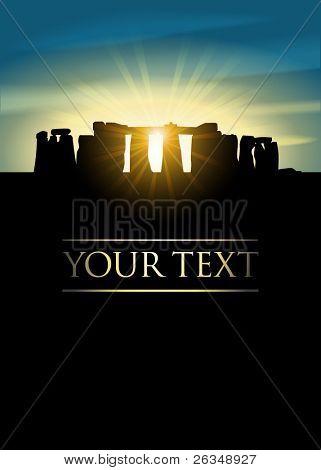 Stonehenge on midsummer solstice