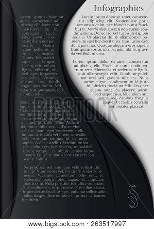 Black And White Infographics With Paragraph