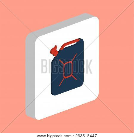 Jerrycan Oil Simple Vector Icon. Illustration Symbol Design Template For Web Mobile Ui Element. Perf