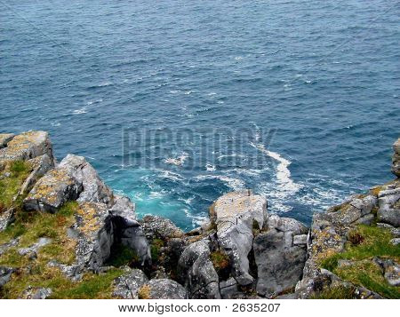 View From Dun Aengus Cliff Edge