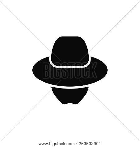 Incognito Agent Icon . Spy Logo . Unknown Person Avatar