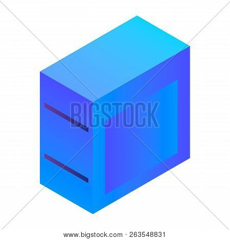 Desktop Pc Icon. Isometric Of Desktop Pc Vector Icon For Web Design Isolated On White Background