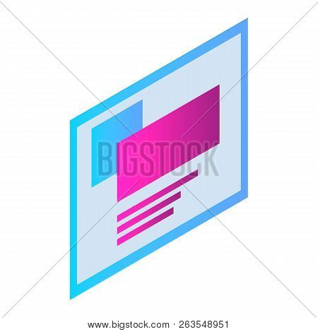 Chat Screenshot Icon. Isometric Of Chat Screenshot Vector Icon For Web Design Isolated On White Back