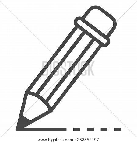 Writing Pencil Icon. Outline Writing Pencil Vector Icon For Web Design Isolated On White Background