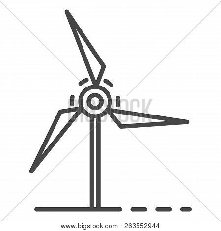 Wind Turbine Icon. Outline Wind Turbine Vector Icon For Web Design Isolated On White Background