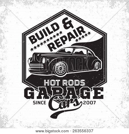 Hot Rod Garage Logo Vector Photo Free Trial Bigstock