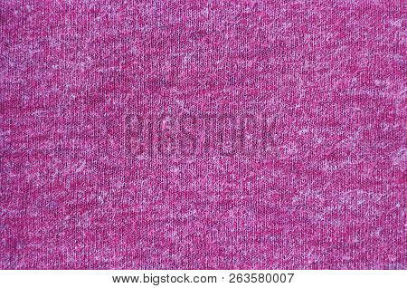 Burgundy Knitted Background Texture, Close-up