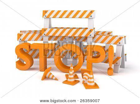 3D Orange road cones