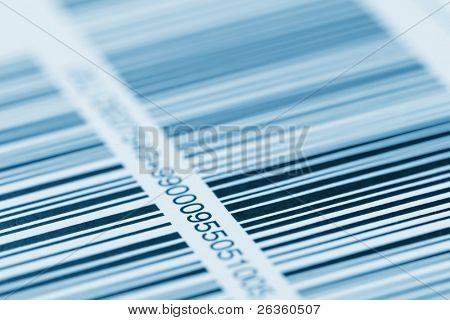 barcode printed on a label
