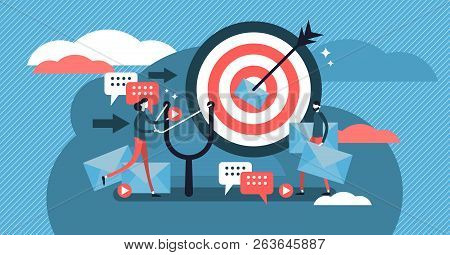Direct Marketing Modern Vector Illustration Concept. Business Strategy Style. Flat Banner With Messa