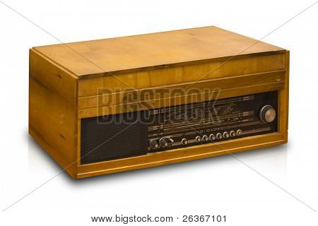 radio Vintage aislado