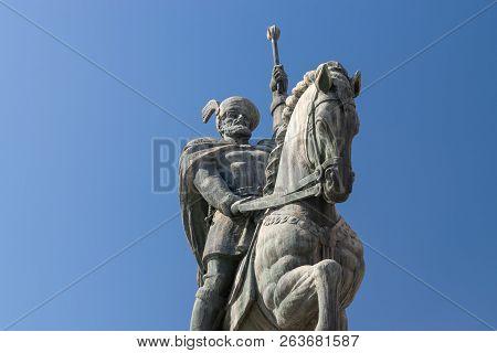 Mihai Viteazul Statue Inside The Citadel Alba-carolina In Alba Iulia, Romania