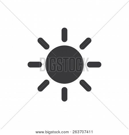 Sun Vector Icon On White Background. Sun Icon In Modern Design Style. Sun Vector Icon Popular And Si