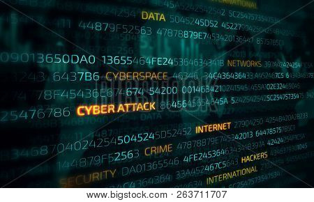 Computer hacking concept