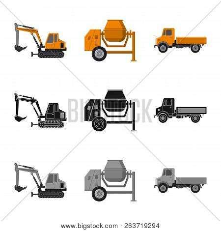 Vector Illustration Of Build And Construction Symbol. Set Of Build And Machinery Stock Vector Illust