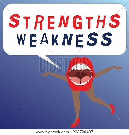 Writing Note Showing Strengths Weakness. Business Photo Showcasing Opportunity And Threat Analysis P